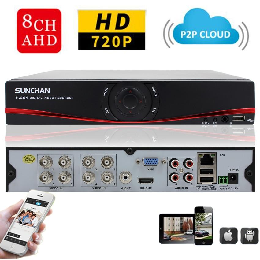 SUNCHAN HD 1080N HDMI Output CCTV Digital Video Recorder 8CH 8Channel 1080N DVR NVR Video Surveillance System