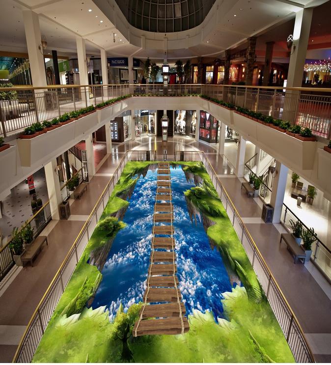 3D papier peint 3d sol peintures murales PVC ciel 3d sol autocollants Photo personnalisée auto-adhésif 3D étage décoration de la maison