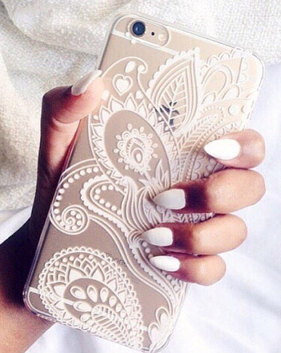 official photos c77f4 264ff New Luxury Sexy Lace Floral Henna Mandala Palace Flowers Hard PC Phone  Cases Cover For iPhone 5 5S SE 6 6S Plus 7 8 Plus X 10