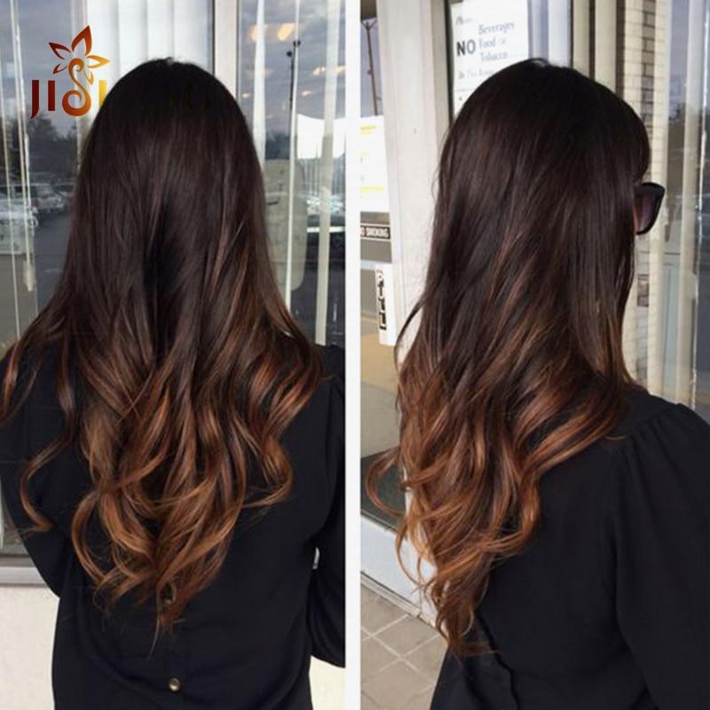 Stunning brunette body wave virgin hair hottest ombre dark long body wave bundles brown and - Ombre hair brune ...