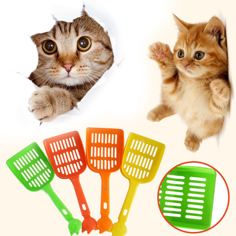 New Cleaning Tool Plastic Cat Sand Quality Pet Supplies Multicolor Color Random