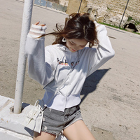 Letter Print Women Hoodies Sweatshirt Winter Autumn Thicken Harajuku Sudaderas Mujer Long Sleeve Pullovers MX18C6252