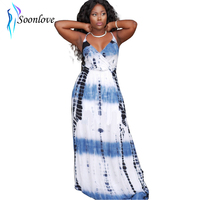 2015 New Design Women's Trendy Sleeveless Fashion Ink Printed Casual Maxi Dress China Supplier Woman Summer Dress L51221