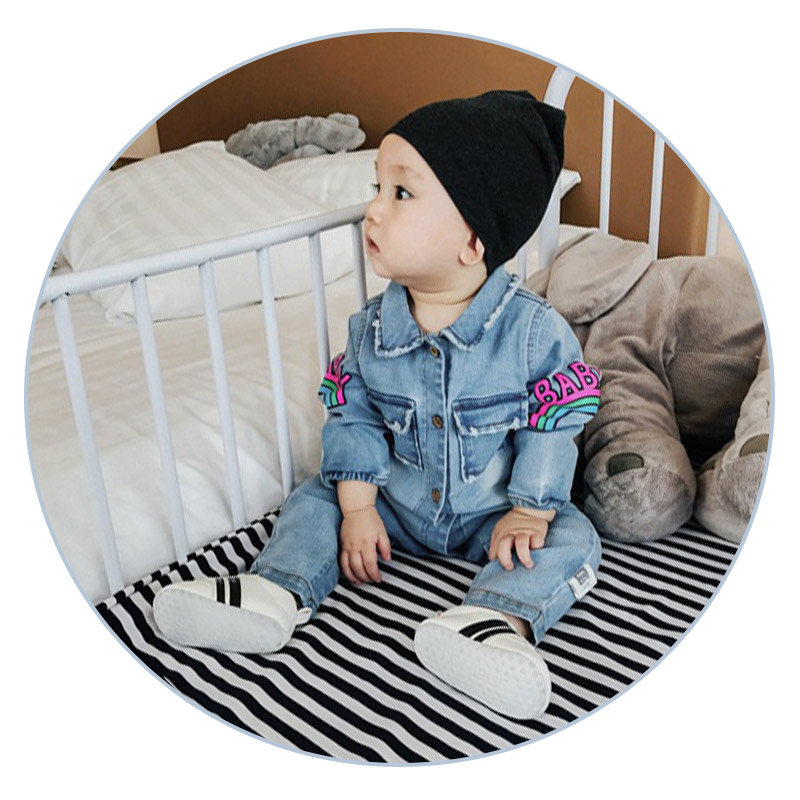 6-24M Fashion jeans woody button Baby clothes Cowboy newborn clothes infants baby boys girls clothes baby clothing costume