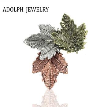 ADOLPH biżuteria hurtowych dla kobiet 2017 nowy projekt akcesoria w stylu Vintage słodkie ze stopu liści broszka szpilki wysokiej jakości najlepszy prezent Hot
