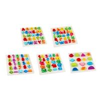 Chanycore Bé Learning Giáo Dục Đồ Chơi Bằng Gỗ Trường Hợp Alphabet Hình Kỹ Thuật Số Puzzle Jigsaw Board Số Học Phù Hợp Với Quà Tặng 4053