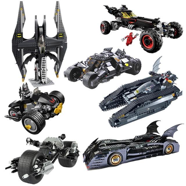 Vingadores Marvel Superhero Batman BatMobile Batwing LOgoes blocos de Construção de brinquedos Blocos Brinquedos Educativos Para Crianças Compatíveis