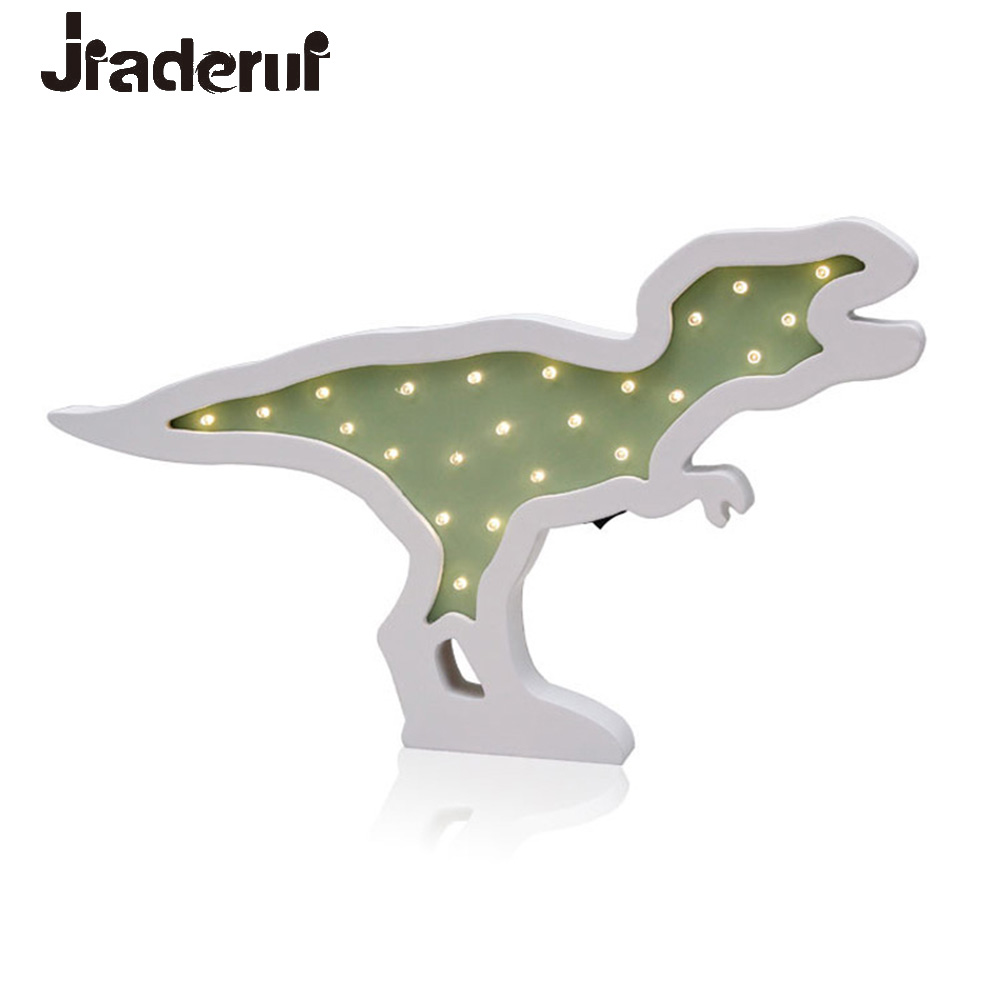 Jiaderui Creative Dinosaur LED Night Light Baby Kids Gift Wall Desk Lamp Bedside Bedroom Living Room Home Indoor Decoration Lamp jiaderui ballon led night lamp wooden table light for kids gift bedside bedroom living room indoor lighting home decoration