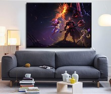 Modern Home Wall Art Decorative Framework Canvas Print Artwork 1 Pcs Space Lord Leoric Painting Game Heroes of the Storm Poster