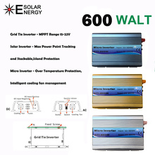 600 watt MPPT micro Grid Tie Inverter 30 v 36 v Panel 72 Zellen Funktion Reine Sinus Welle 110 v 220 v Ausgang Auf Grid Tie Inverter 22-60 v DC