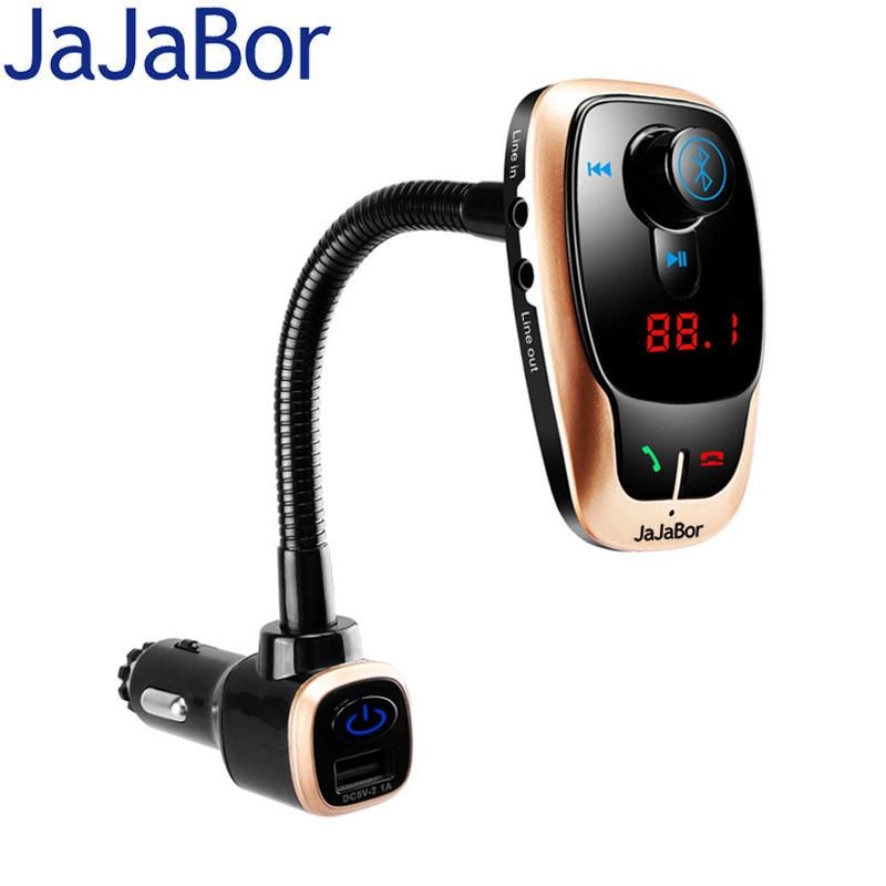 Автомобильный комплект JaJaBor с Bluetooth, автомобильный fm передатчик, беспроводная связь, Bluetooth, AUX, аудио, Автомобильный MP3 плеер, поддержка U …