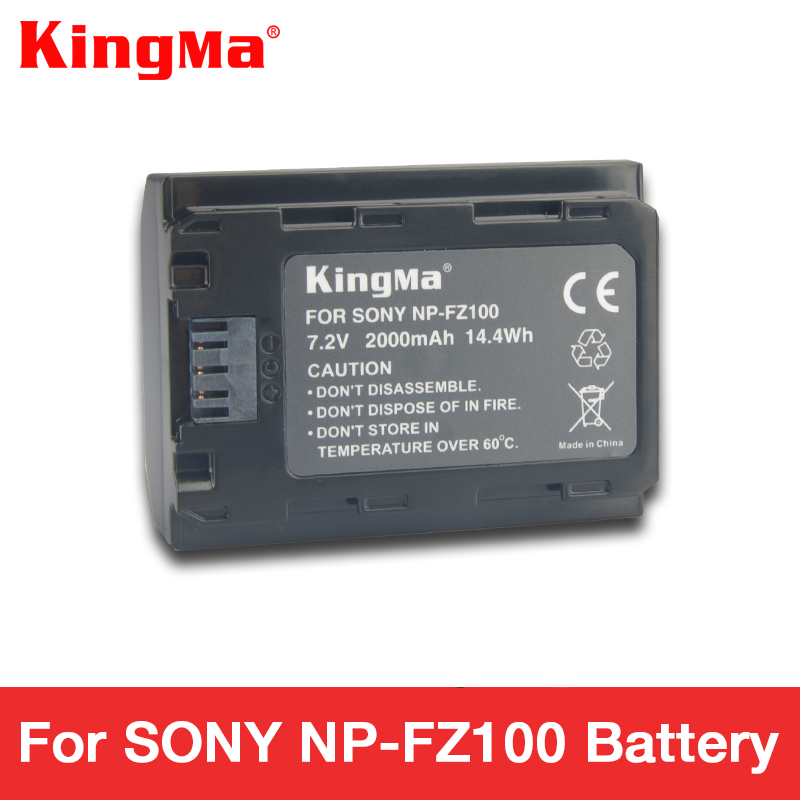 KingMa NPFZ100 np fz100 battery NP-FZ100 battery 2000 mAh for SONY ILCE-9 A7m3 a7r3 A9/A9R 7RM3 BC-QZ1 Alpha 9 9S 9R camera цена