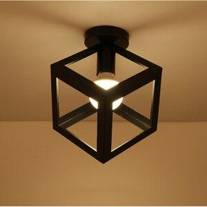 Image 3 - מודרני יצוק ברזל E27 led תקרת מנורות שחור תקרת אורות סלון מטבח חדר שינה מחקר מעבר מסעדת קפה מלון