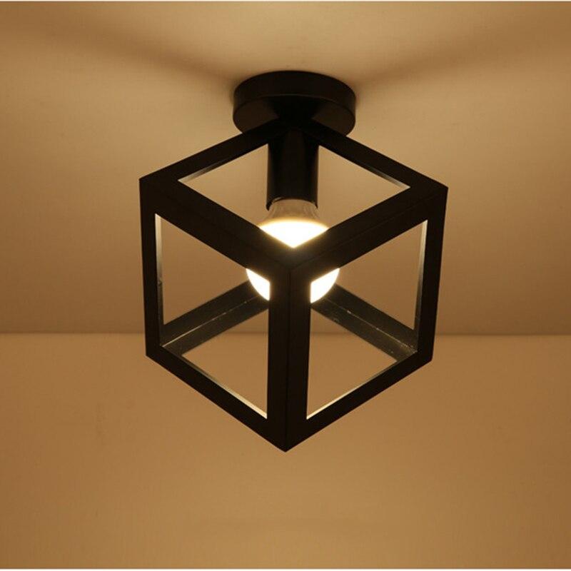 Image 3 - Современные кованые E27 светодиодные потолочные светильники, черные потолочные светильники для кухни, гостиной, спальни, учебы, прохода, ресторана, кафе, отеляПотолочные лампы    АлиЭкспресс