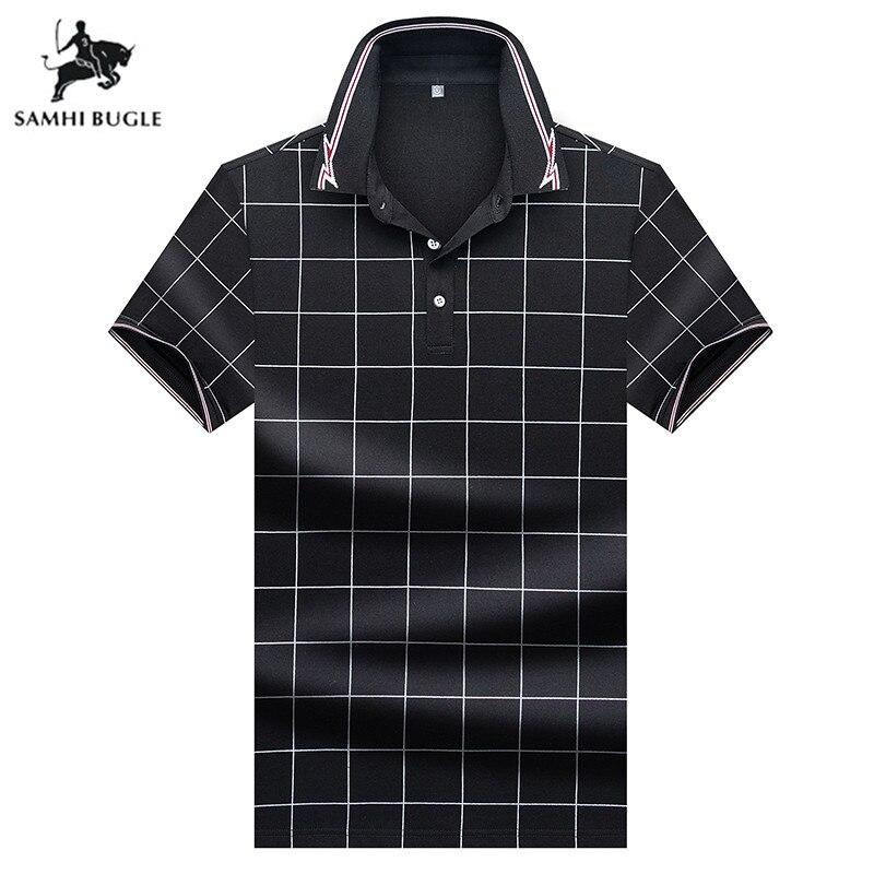Mens Clothing 2019 Summer fashion   polo   shirt men brand Business   polo   plain print lapel pin flower for men