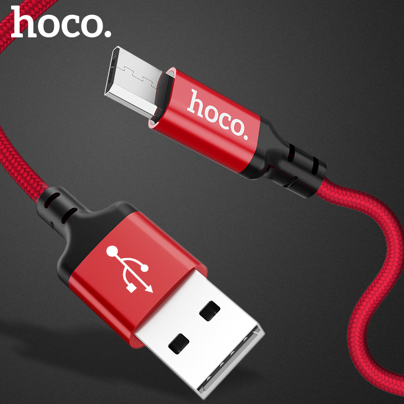 HOCO Original Micro USB Cable 2m 1m 5V2A Fast Charger USB Data Cable For Samsung Xiaomi Huawei Mobile Phone Cables for Android
