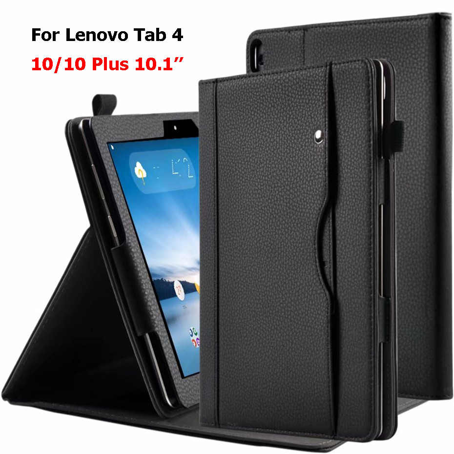 Leather Case Voor Lenovo Tab4 10 Tab 4 10 Plus 10.1 TB-X704F/N/L TB-X304L/F Shockproof stand Wallet Cover Voor Lenovo Tab 4 10