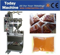 Solvent Yellow Wine Soy Sauce Juice Milk Sauce Water Liquid Automatic Vertical Filling Packing Machine