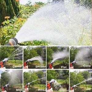 Image 5 - 8 パターン庭の水鉄砲ホースノズル家庭用洗車ヤード水噴霧器ガーデン水ホースノズル振りかけるツール