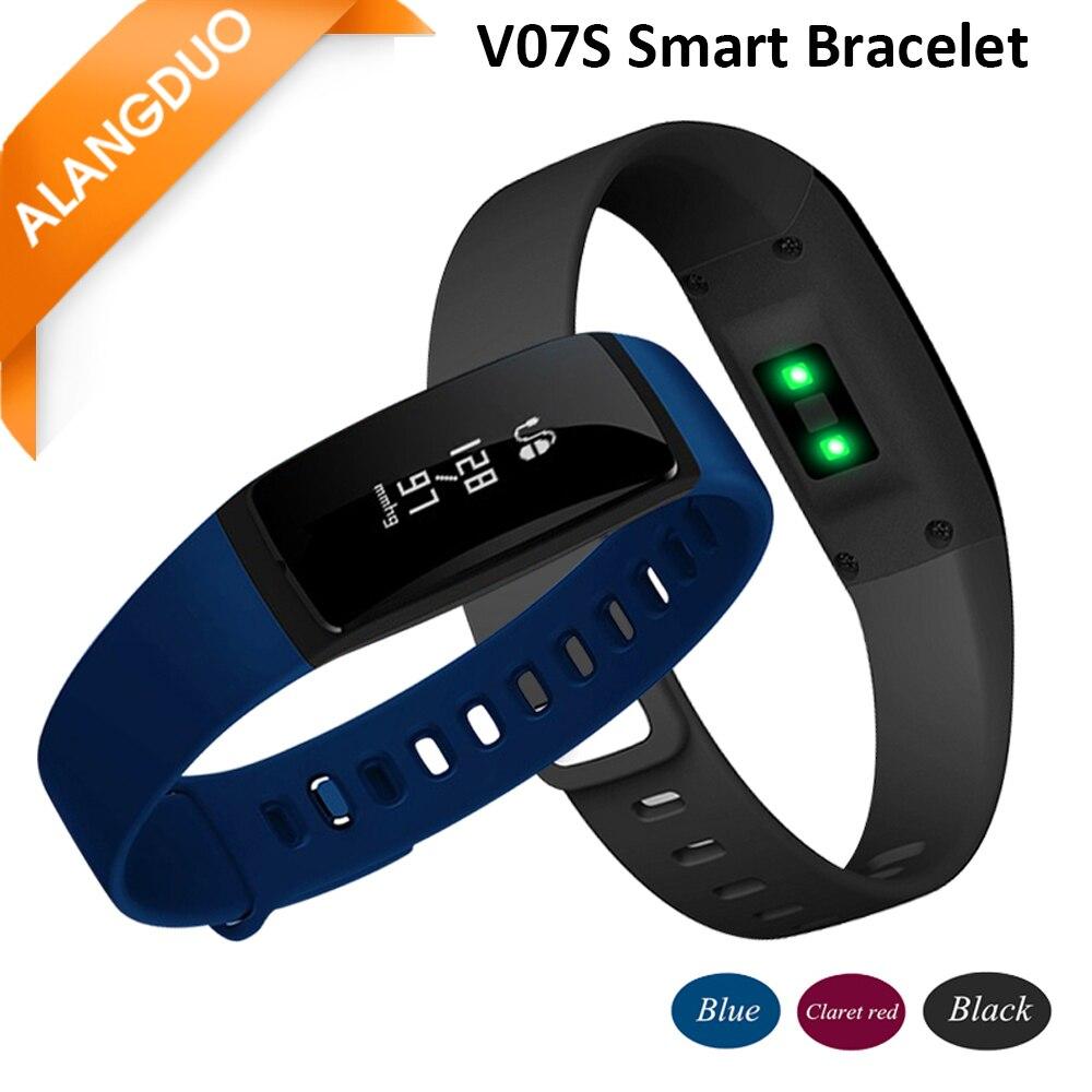 imágenes para ALANGDUO Relojes Actividad Rastreador V07S Pulsera Inteligente de La Presión Arterial Monitor de Ritmo Cardíaco Para Android y IOS Pulsera Actividad