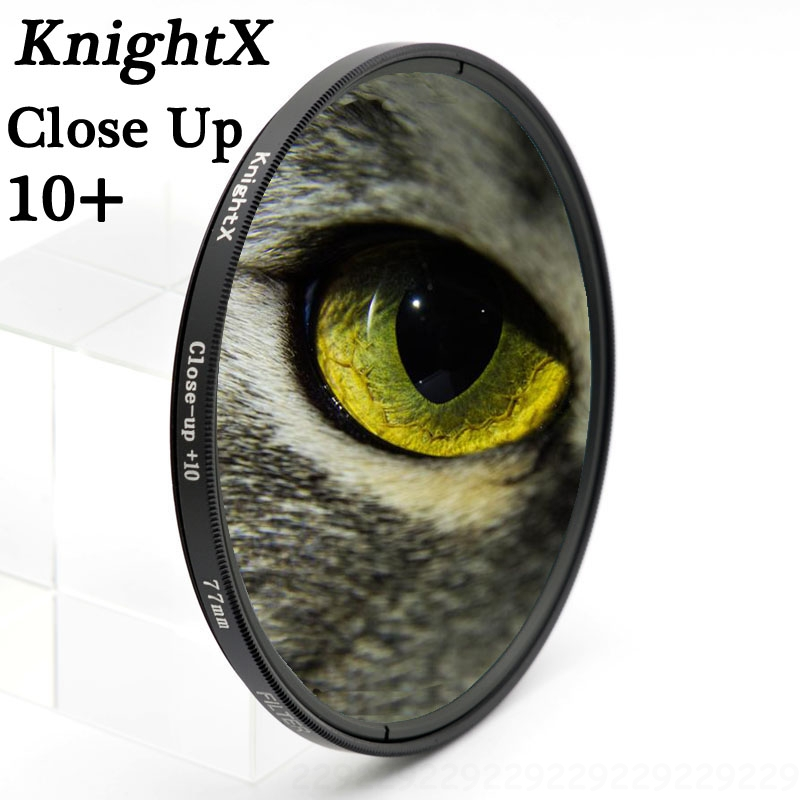 KnightX close up 10 + 52 55 58 67 77mm UV CPL filtro para Sony Pentax Nikon Canon D5200 100D EOS 400D D5300 D3300 D5500 550D 500D