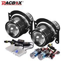RACBOX 2,5 дюймов, противотуманный светильник, объектив, металлические линзы для проектора 55 Вт, 4300 К, 6000 К, 8000 К, H11, комплект для ксеноновых ламп, быстрый запуск, балласт, Стайлинг автомобиля