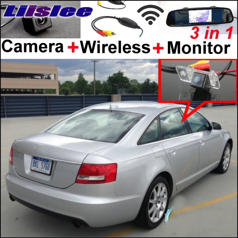 Liislee 3in1 Special WiFi Camera + Wireless Receiver + Mirror Monitor Easy Parking System For Audi A6 / C6 / S6 / RS6 2005~2009 liislee 3in1 special rear view camera wireless receiver mirror monitor easy parking system for lexus ls430 celsior 2001 2017