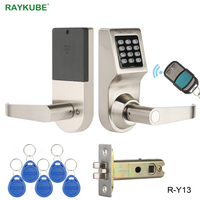 Raykube пароль, электронный замок с цифровой клавиатуры Дистанционное управление RFID ключ разблокировки Интеллектуальная блокировка деревянн