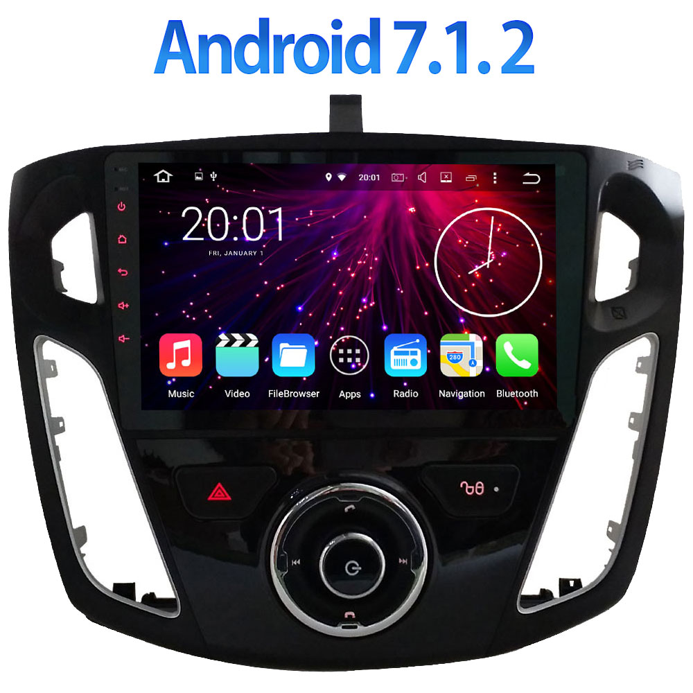 9 Quad Core 2GB RAM BT Android 7 1 2 Multimedia DAB USB GPS Navigation for