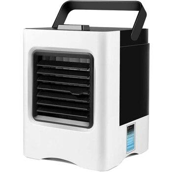 مكيف الهواء مروحة ، 4 في 1 صغيرة الشخصية Usb مبرد الهواء مصغرة لتنقية الهواء المرطب مع Led أضواء ، مبرد الهواء مروحة مكتب Co