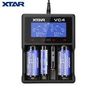 XTAR VC2 VC4 зарядное устройство Универсальный ЖК-экран дисплей USB Ni-MH/Ni-CD Li-Ion 18650 20700 21700 22650 26650 18500 18700 16340