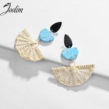 JOOLIM Natural Style Braided Earring Stone Fashion Jewelry Wholesale Long