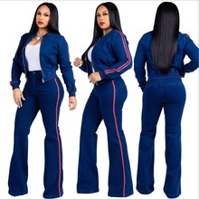 2pcs set Women Set Crop Top Sweatshirt+solid long Pants Hooded two Pieces Sets Clothing Suits Female sweatshirt pants tracksuit