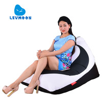 LEVMOON Beanbag Sofa Tai Chi Printing Seat Zac Comfort Bean Bag Bed Cover Without Filling Cotton