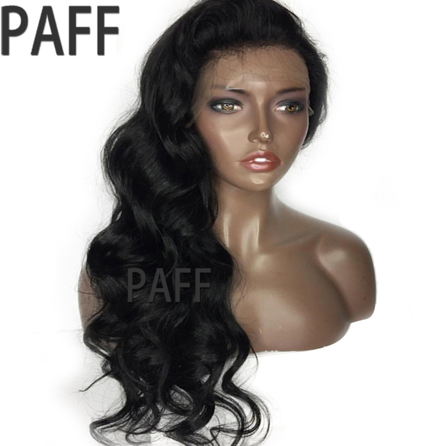 36C Body Wave Full Lace Human Hair Wigs With Bangs 100% Peruvian Remy Hair Wig Swiss Lace 12-24 Inches With Bleached Knots