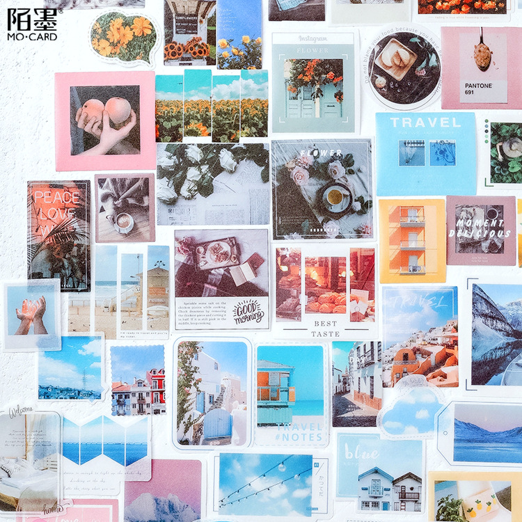 Mohamm Diary Journal Paper Packs Stationary Japanese Personalized Decorative Deco Photograph Sticker Flakes Scrapbooking