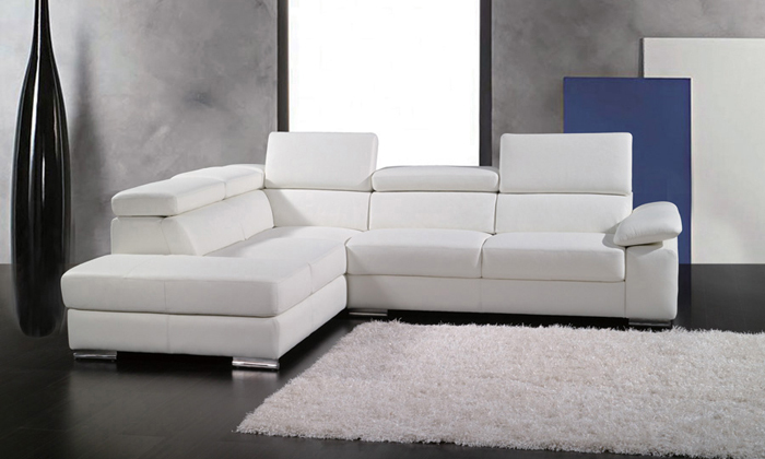 free shipping 2013 european modern design small l shaped genuine leather corner sofa free. Black Bedroom Furniture Sets. Home Design Ideas