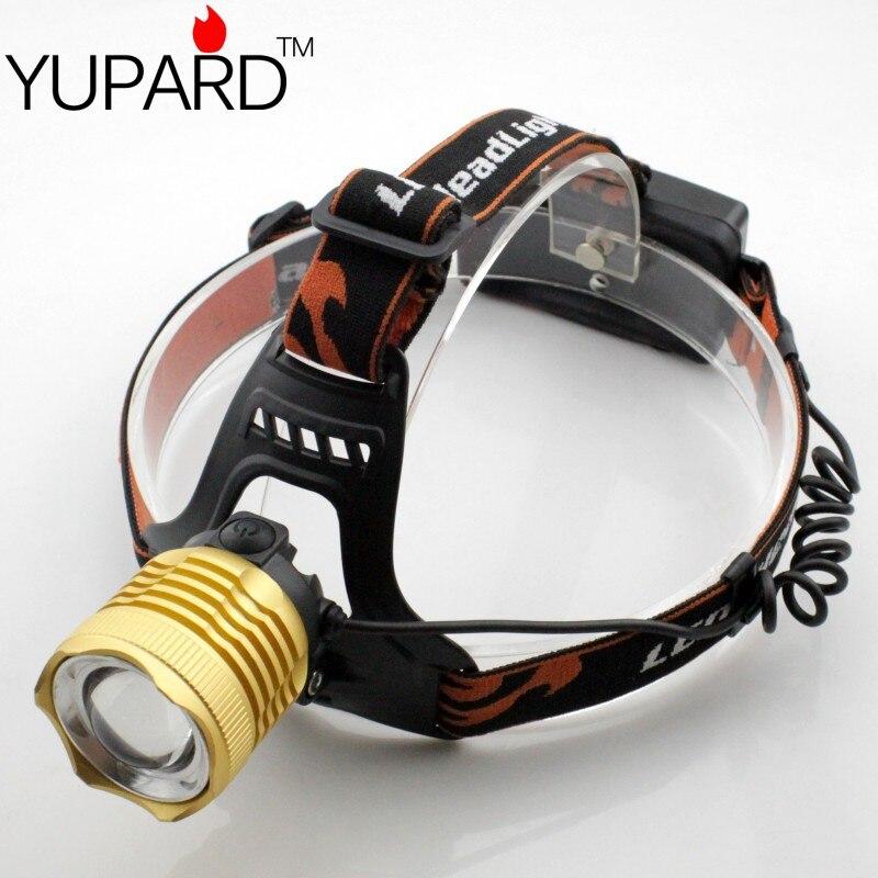 YUPARD Φωτιστικό επαναφορτιζόμενης μπαταρίας 18650 Φωτισμός φανών προβολέα XM-L2 T6 LED 3modes Φωτιστικό λαμπτήρα για υπαίθριο αθλητισμό
