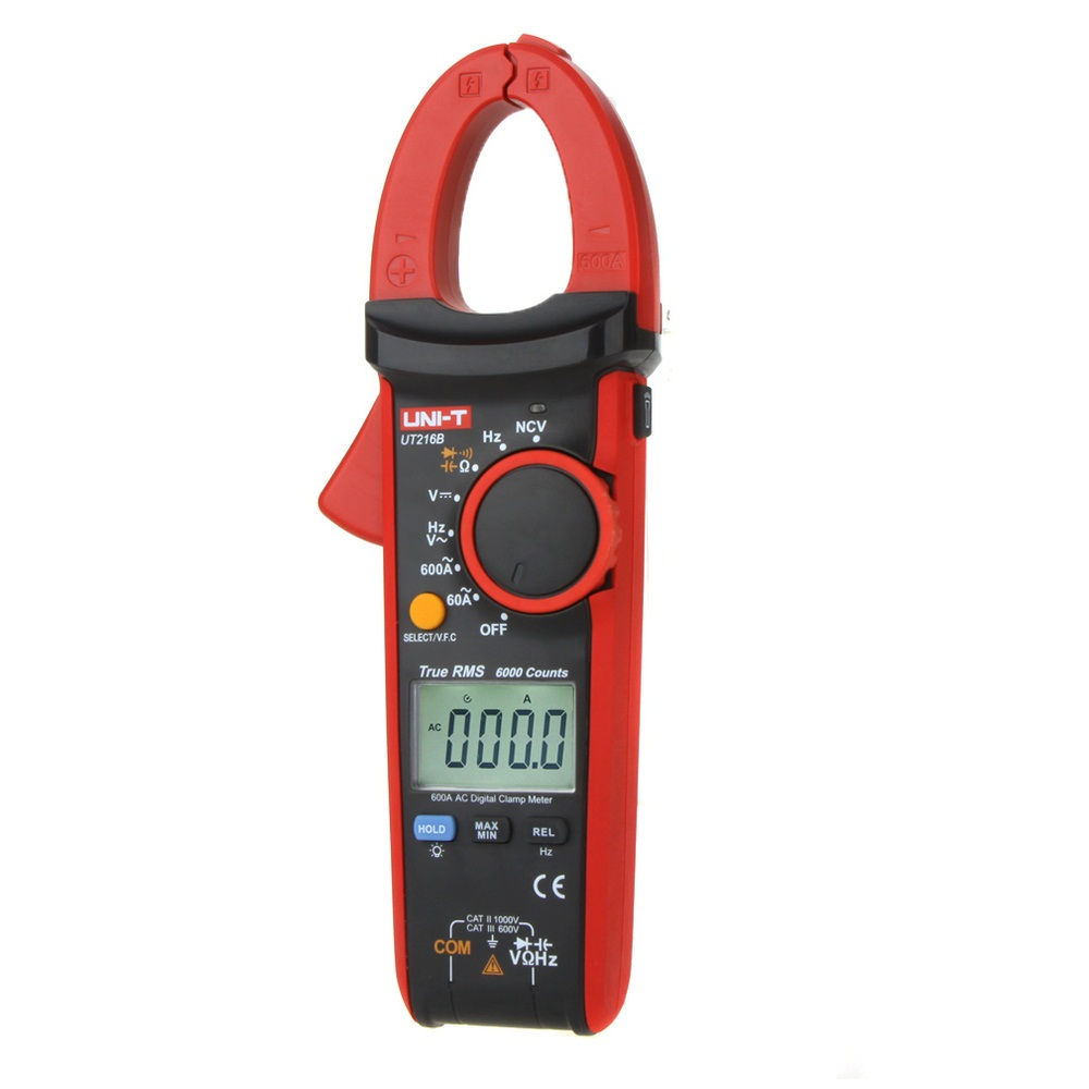 UNI-T UT216B 600A Digital Clamp Meters NCV V.F.C Diode LCD Backlight Display Work Light