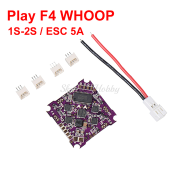 Play F4 whoop Flight Control 1-2S integrated 4 in 1 Brushless ESC support DSHOT Oneshot125 Multishot PWM for FPV Drone darwinfpv betaflight f4 v3s flight control built in image filtering osd 35a 4 in 1 esc flytower for fpv rc drone