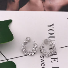 TIFF APM 925 Sterling Silver Stud Earrings with Zircon, U-Shaped, Sleek,Stylish and Elegant ladies jewellery.(China)
