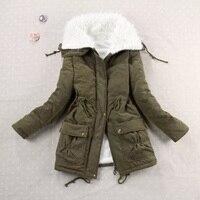 9 Colors 2017 New Casual Women Lamb Wool Thickening Warm Winter Overcoat Jacket Coat Outwear Parkas