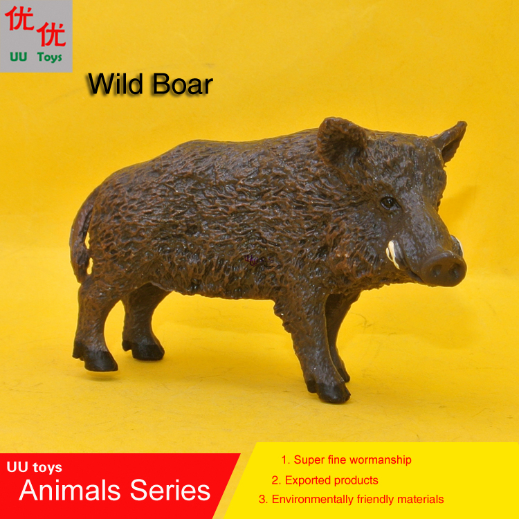 Hot toys: wild boar pig Simulation model Animals kids toys children educational props Action Figures 12pcs set children kids toys gift mini figures toys little pet animal cat dog lps action figures