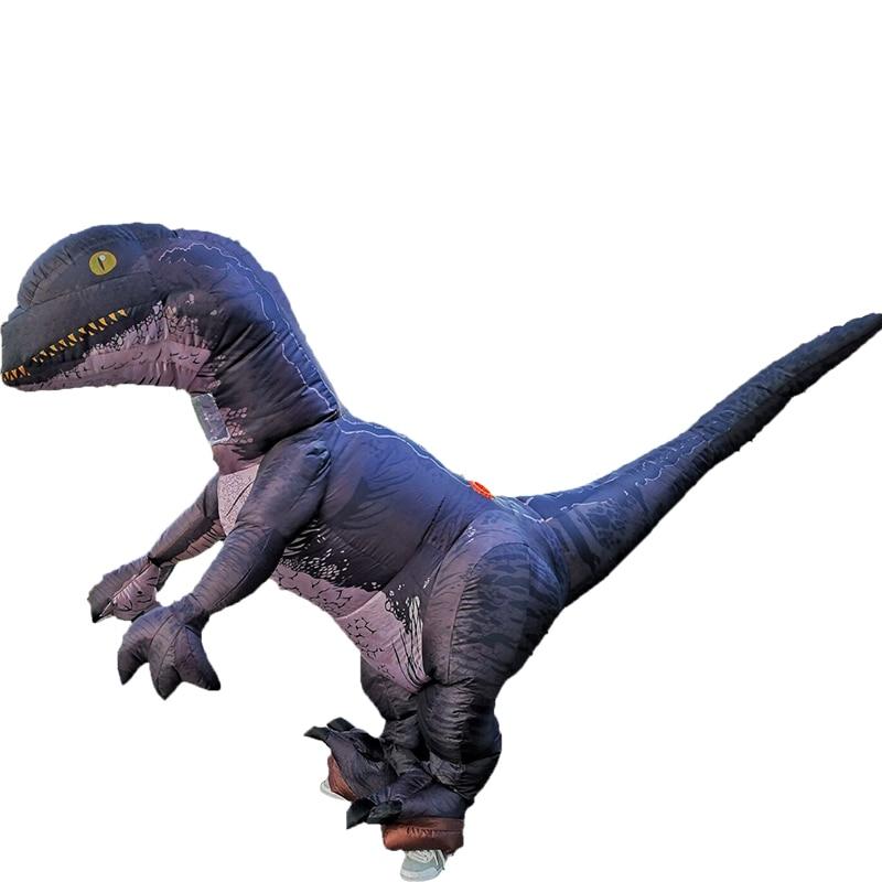 Partito Adulto Gonfiabile Dinosauro Costume Cosplay di Fantasia Gonfiabile Velociraptor Costume di Halloween per Le Donne Uomo