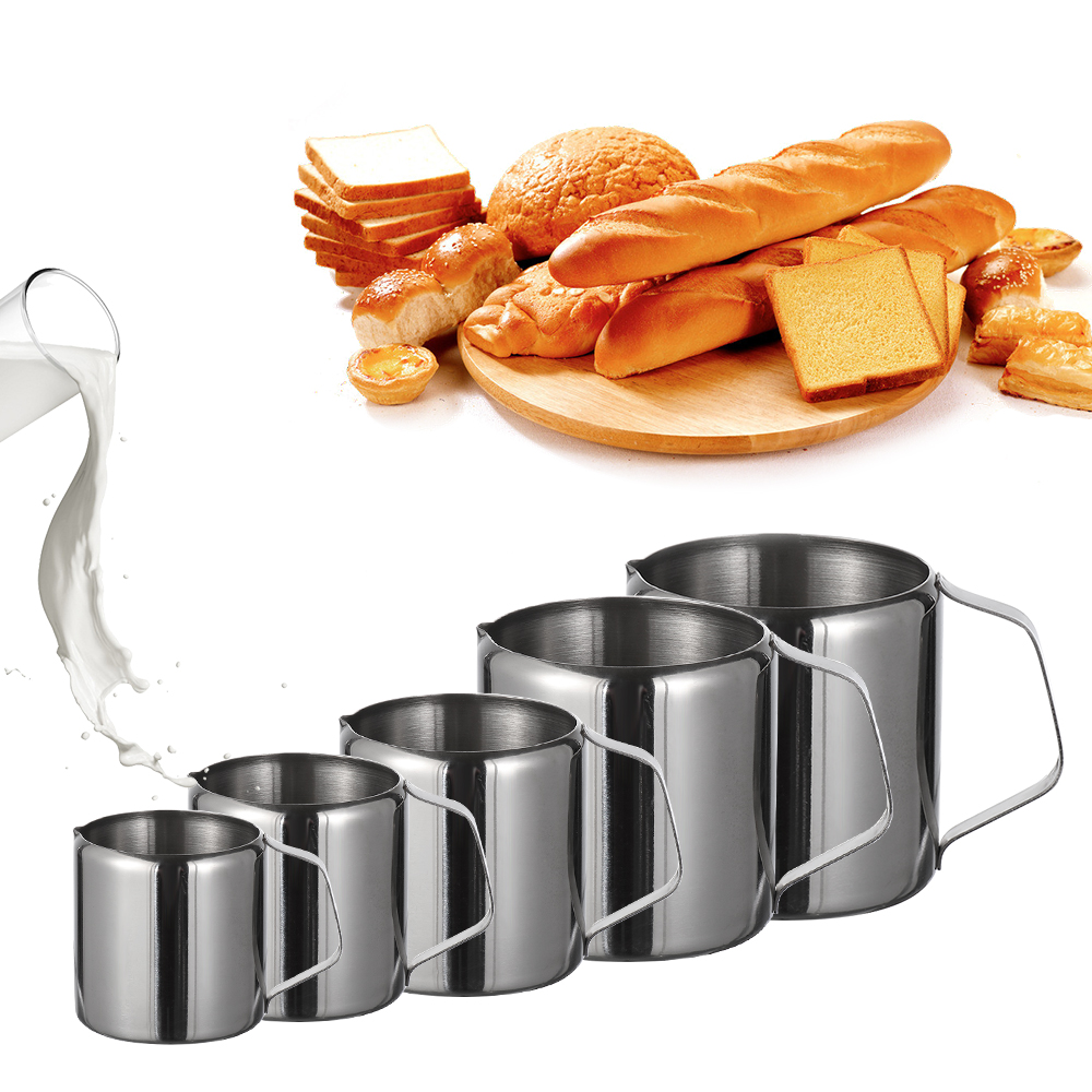 5 Size Durable Stainless Steel Milk Frothing Jug Coffee Cream Pitcher Cup Latte Art Spout Pitcher Home & Kitchen Coffeeware