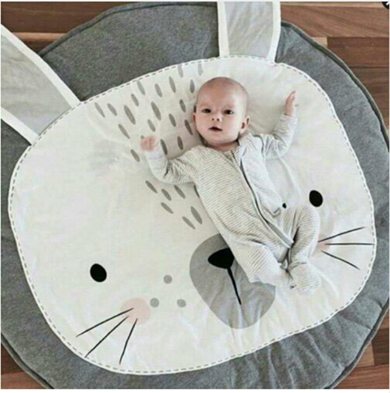 Animal Climbing Carpet Baby Play Mats Newborn Infant Soft Sleeping Mat Cotton Cart Cover Kids Air Conditioning Rabbit Blanket