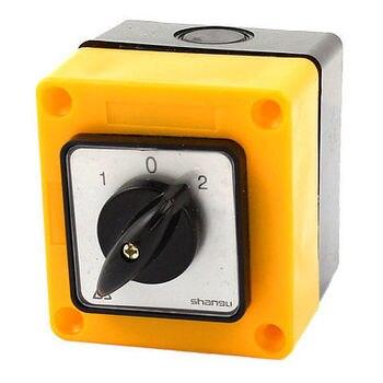 660V 20A 4 Terminal de tornillo 2 polos Selector cambio de cámara giratorio interruptor w cubierta