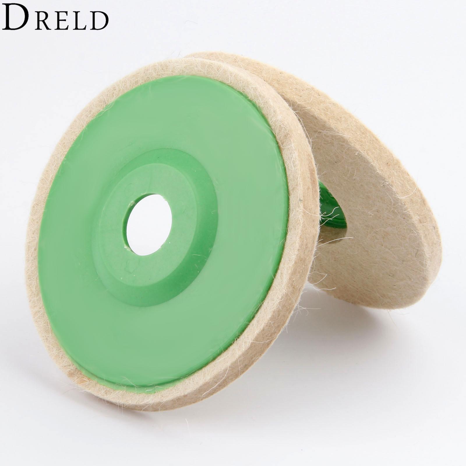 DRELD 1Pc Dremel Accessories 5 Inch 125mm Round Polishing Wheel Wool Felt Buffing Polishers Pad Buffer Tools For Metal Marble
