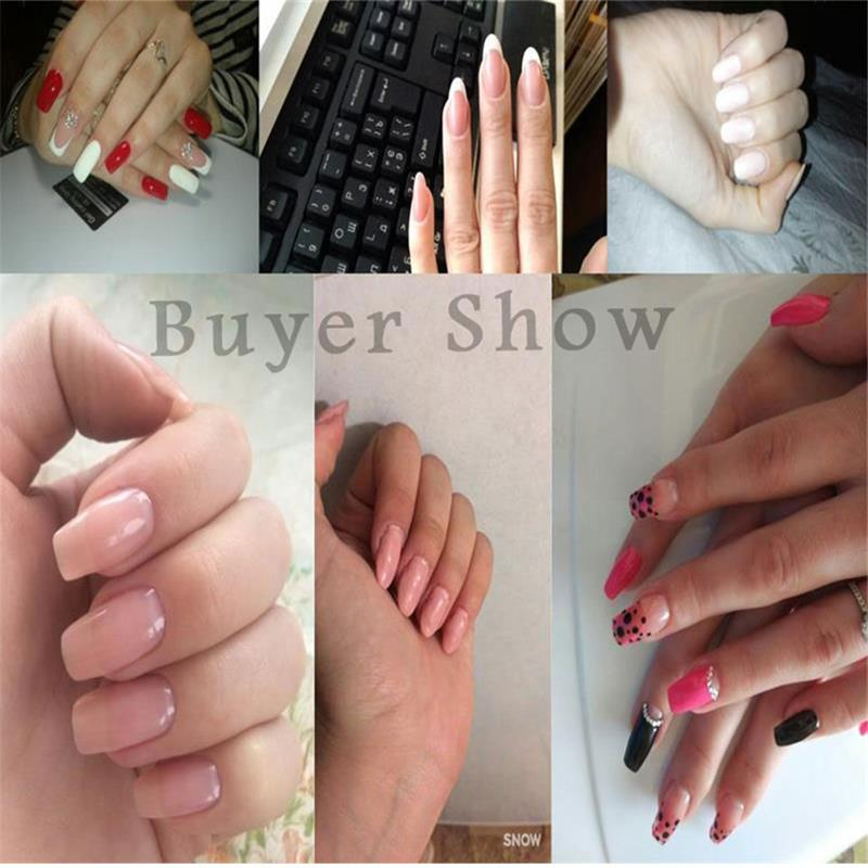 Zation Extended Nail Gel Manicure False Nail Tips Crystal Gel French ...