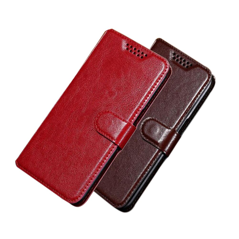 Flip PU Leather + Wallet Cover Case For Cricket Vision Wave Cover Protection Flip Phone Case image